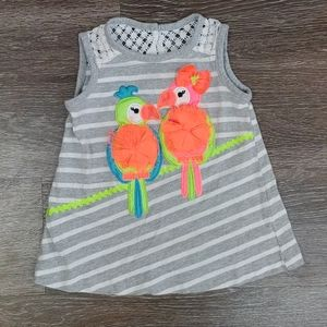 Parrot shirt with fake feathers size 12 months